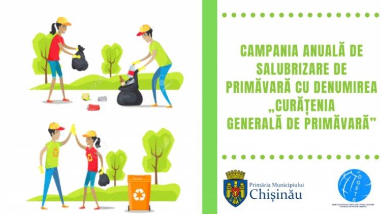 """Lansarea campaniei municipale """"Curățenia generală de primăvară"""" în sectorul Botanica"""