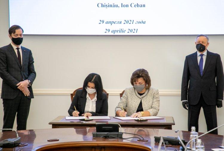 A fost semnat acordul de colaborare dintre raionul Moscova al orașului Sankt-Petersburg și sectorul Botanica municipiul Chișinău