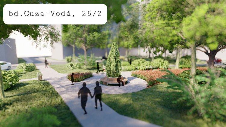 A fost dat start lucrărilor de amenajare a 5 zone verzi din curțile de bloc în sectorul Botanica