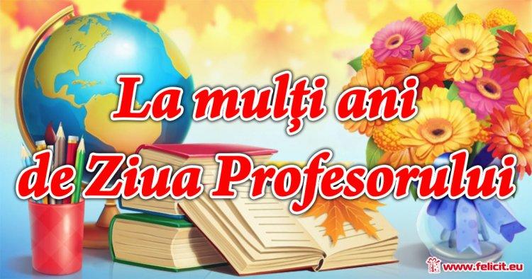 Mesaj de felicitare profesorilor